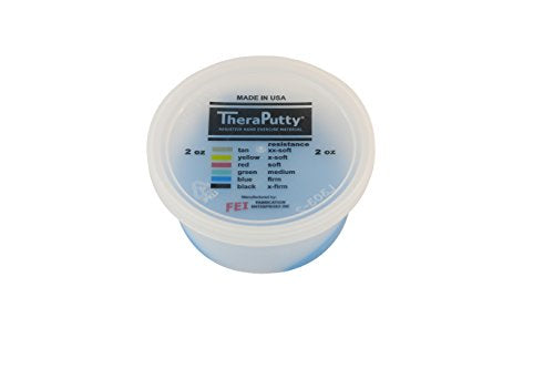 CanDo TheraPutty Plus Anti-Microbial, Blue: Firm, 2 oz