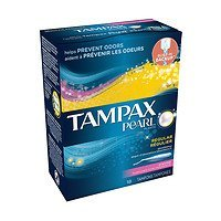 Tampax Pearl Tampons, Scented, Regular, 18 ea - 2pc