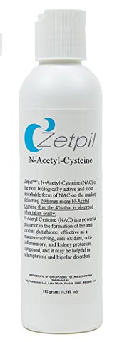 Zetpil N Acetyl Cysteine, NAC, Ultra Absorbable Cream, 6.5 Fluid oz
