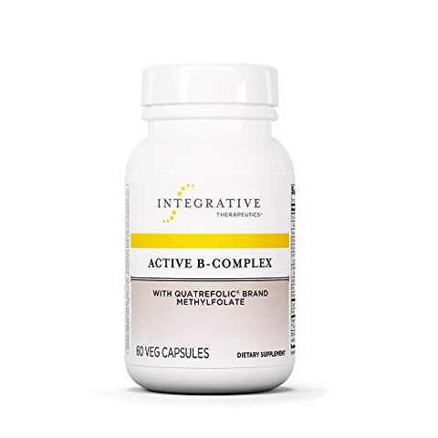 Integrative Therapeutics - Active B-Complex with Folate and Vitamins B1, B2, B3, B5, B6, B7, B12, and Choline Bitartrate for Energy Production - NSF Certified for Sport - Vegan Formula - 60 Capsules