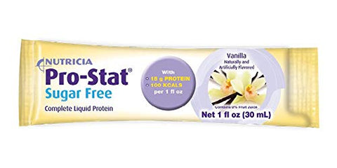 Pro-Stat Sugar-Free Protein Supplement Vanilla Flavor 1 oz. Individual Packet Ready to Use, 40464-U - Sold by: Pack of One