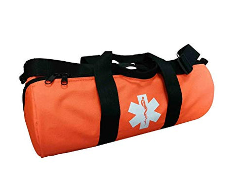 O2 Oxygen Duffle Responder Trauma Sleeve Bag with Star of Life Logo Fire Fighter (Orange)