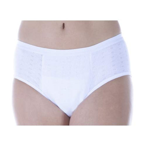 3-Pack Women's Mid-Rise Maximum Absorbency Reusable Bladder Control Panties White 4XL (Fits Hip: 52-55