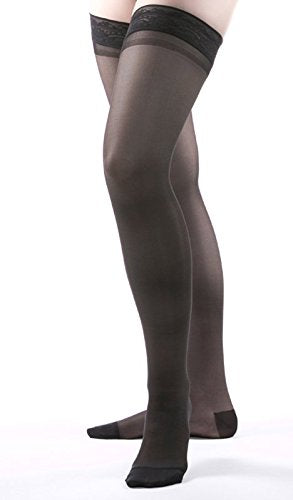 Allegro 15 20 Mm Hg Essential 4 Sheer Support Thigh High (Black) Xxx Large
