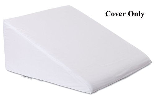 "InteVision 400 Thread Count, 100% Egyptian Cotton Bed Wedge Pillowcase; Replacement Cover Designed to Fit the 12"" (Height) Version of the InteVision Foam Wedge Bed Pillow (25"" x 24"" x 12"")"
