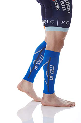 Mojo Compression Men's A607BLUE4 Calf Sleeve, Blue, XL