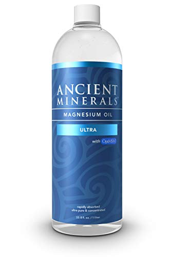 Ancient Minerals Magnesium Oil Ultra with OptiMSM, Refill 33.8 oz. - Pure Genuine Zechstein Magnesium Chloride Supplement with MSM - Best Topical Skin Application for Dermal Absorption