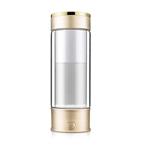 LOVEPET Portable 3 Minute Hydrogen-Rich Water Bottle Rechargeable High Concentration Hydrogen Generator Glass Bottle Anti-Aging Anti-Oxidation Alkaline Water Generator