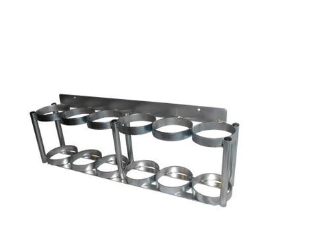 FWF Oxygen Wall MOUNTABLE and Versatile Rack for 6 (D OR E Style) CYLINDERS Diameter 4.3