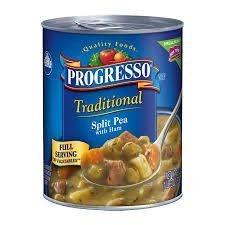 Progresso, Traditional Soups, 18.5oz Can (Pack of 6) (Split Pea With Ham Soup)