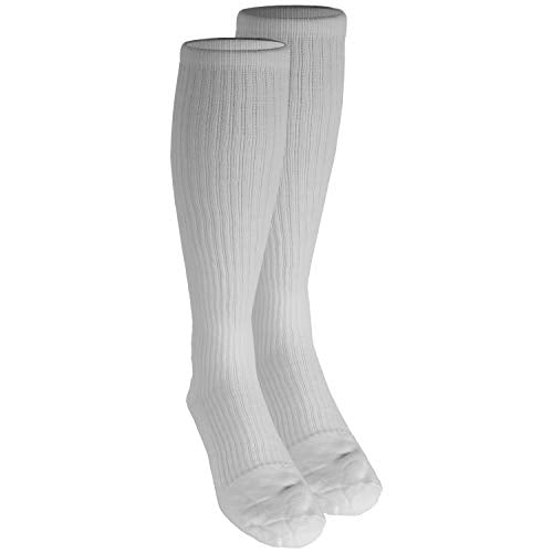 Truform Compression Socks, 15 20 Mm Hg, Men's Gym Socks, Knee High Over Calf Length, White, Small