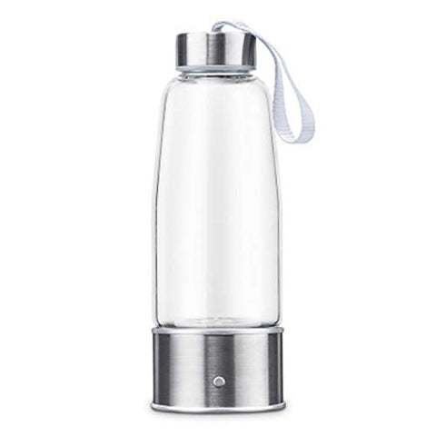 LOVEPET Portable 3 Minute Hydrogen-Rich Water Bottle Rechargeable High Concentration Hydrogen Generator Glass Bottle Anti-Aging Anti-Oxidation Alkaline Water Generator, 430ml
