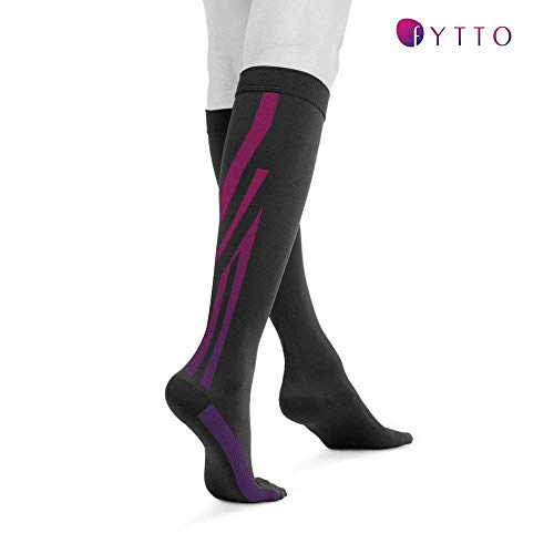 Fytto 1020 Opaque Compression Socks for Professionals 15-20 mmHg - Graduated Medical Support for Flight, Travel, DVT and Edema - Small, Black