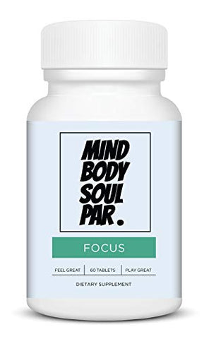 Focus Brain Enhancement Supplement for Golfers - Promotes Concentration, Cognitive Function & Memory - Play Better Golf