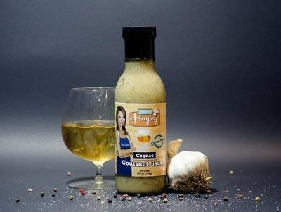 Cognac Gourmet Sauce by Help From Hayley Sauces-Low Sodium, Low Fat, Gluten Free, Vegan Friendly-12 oz