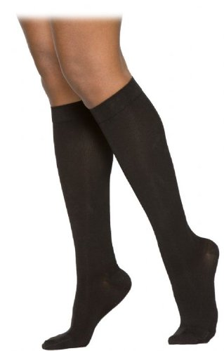 230 Cotton Series 30-40 mmHg Women's Closed Toe Knee High Sock Size: Medium Short, Color: Crispa 66