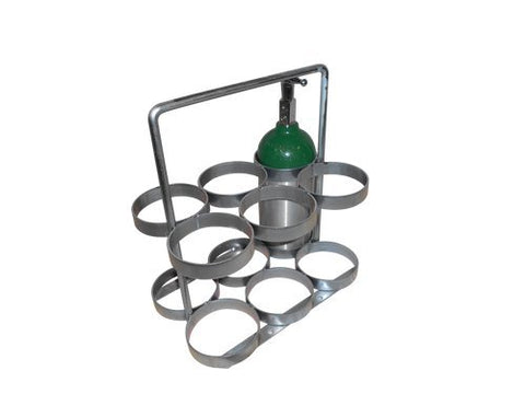 FWF Oxygen Rack for 6 (D/C Style) CYLINDERS Diameter of 4.3