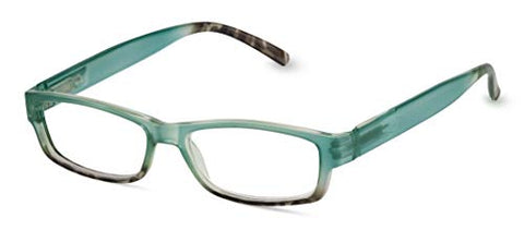 Peepers by PeeperSpecs Women's Sunny Side Up Non Polarized Rectangular Reading Glasses, Tortoise/Blue, 49 mm 1.5
