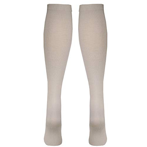 Truform Compression Socks, 30 40 Mm Hg, Men's Dress Socks, Knee High Over Calf Length, Tan, Medium