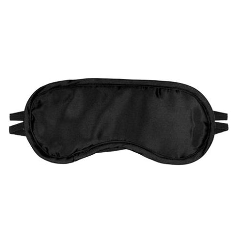 Erotics Satin 2 Strap Blindfold, Black