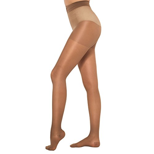 Healthweir Sheer Compression Pantyhose For Women 15 20 (Eu 18 22) Mm Hg   Medical Support Stockings F