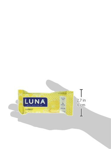 Luna Bar   Gluten Free Bars   Lemon Zest Flavor   (1.69 Ounce Snack Bars, 15 Count)(Packaging May Va
