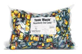 Toxic Waste Hazardously Sour Candy 1000 Count Bulk Mega Bag