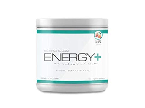Science Based Energy Plus - Performance Energizing Pre Workout Formula- Enhance Energy, Mood, Focus - Mango Peach Flavor