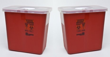 Kendall Sharps Container with Rotor Lid - 2 Gallon by Kendall Healthcare (2)