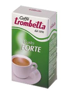 Trombetta Gusto Forte Grinded Coffee, 1 lb (Pack of 2)