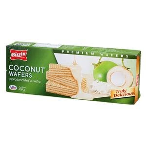 Bissin, Wafer, Coconut Flavour, 100 g. [Pack of 1 piece]