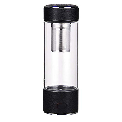 LOVEPET High Concentration Hydrogen-Rich Water Cup SPE Ion Membrane Alkaline Water Purifier Micro-Electrolysis Water Glass 450ml