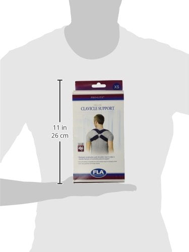 FLA Orthopedics Prolite Deluxe Clavicle Support, Navy, X-Small