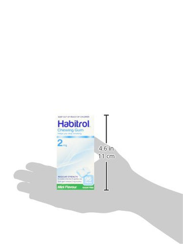 Habitrol Nicotine Gum 2mg Mint 96 Pieces Buy 1 Box or MORE!
