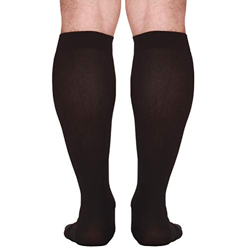 Made In The Usa â?? Microfiber Compression Travel Socks 15 20 Mm Hg (Black, Large)