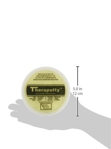CanDo TheraPutty Standard Exercise Putty, Yellow: XSoft, 1 lb
