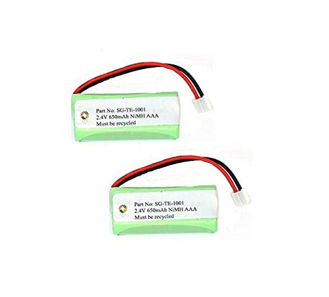 SPS Brand 2.4V 650mAh Replacement Battery for VTech 6122 (2 Pack)
