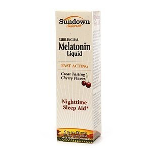 Sundown Naturals Sublingual Melatonin Liquid, Cherry 2 fl oz (59 ml) by AB