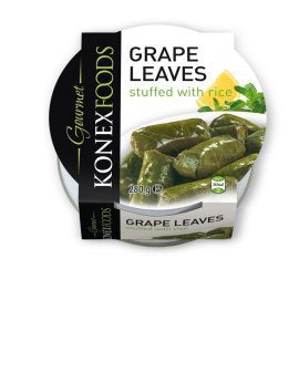 Konex Foods Grape Leaves Stuffed with Rice (Pack of 4) 9.9 oz each
