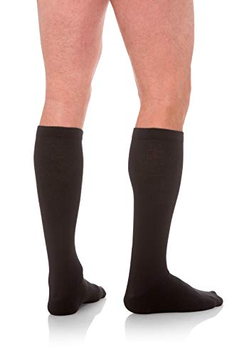 Jomi Compression Men's Socks Collection, 15-20mmHg Coolmax 100 (Small, Black)