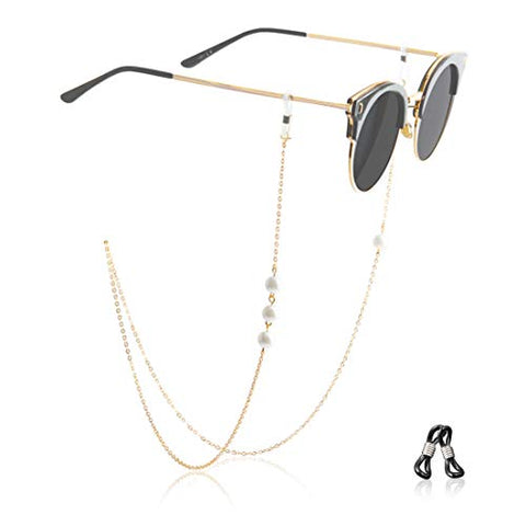 Kalevel Glasses Holder Necklace Beaded Eyeglass Chains and Cords for Women Gold