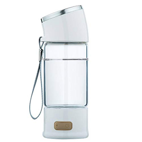 LOVEPET Portable 3 Minute Hydrogen-Rich Water Bottle Rechargeable High Concentration Hydrogen Generator Glass Bottle Anti-Aging Anti-Oxidation Kettle 300ml