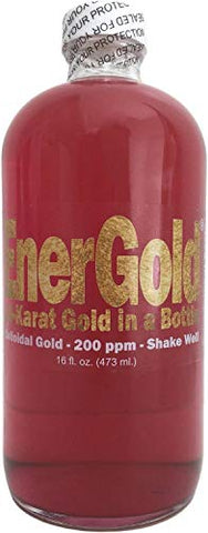 Ener Goldâ® 10 Times Concentrated 200 Ppm Colloidal Gold   32 Oz. (Two 16 Oz. Bottles)