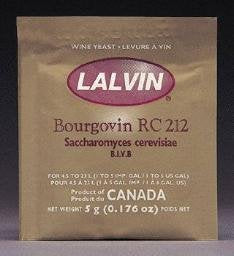 Lalvin Bourgovin RC-212 Wine Yeast, 5 grams - 100-Pack