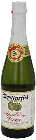 Martinelli's Gold Medal Sparkling Apple Cider Juice, 25.4 oz (8 Bottles)