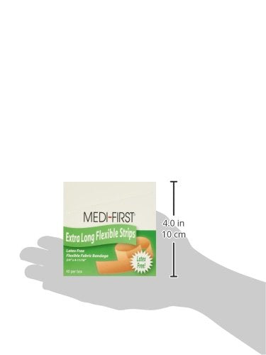 Medique 62178 Medi-First Latex Free Woven Bandages, Extra Long, 3/4-Inch X 4-11/16-Inch, 40-Per Box