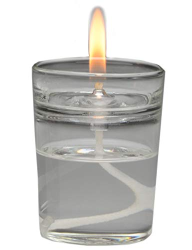 Firefly Zen Petite Refillable Glass Essential Oil Lamp Aromatherapy Scented Candle   Votive Size   E