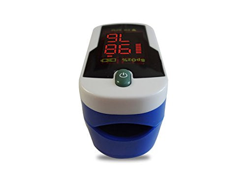 Concord Sapphire Fingertip Pulse Oximeter Blood Oxygen Saturation Monitor With Reversible Display, C