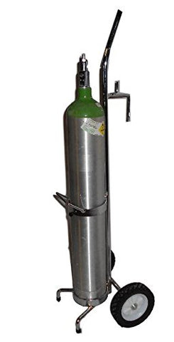 FWF Oxygen CART W/Bed Hook Holds 1 (D OR E Style) Cylinder Diameter 4.3