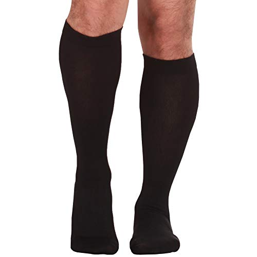 Made In The Usa â?? Microfiber Compression Travel Socks 15 20 Mm Hg (Black, Medium)